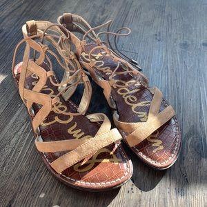 Worn twice Sam Edelman gladiator sandals